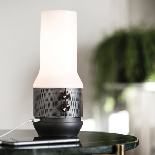 Mineral Terrace Rechargable Lamp with Speaker and Power Bank