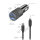 Car Charger Rapid+ 27W with Quick Charge, PD and USB-C to Lightning Cable, 1m, grey / black