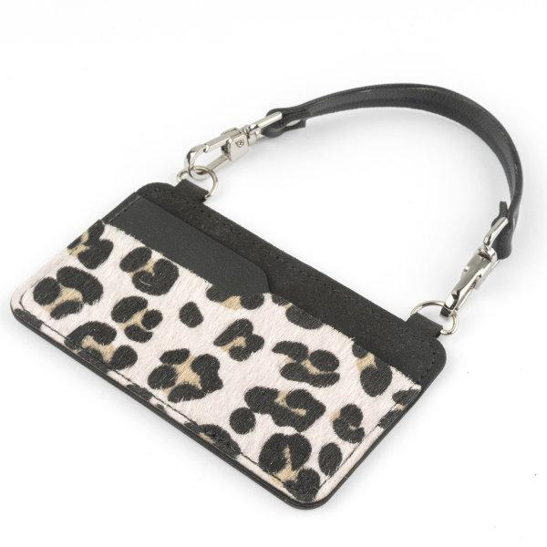 Case für Kreditkarten Biz mit Armband leopard