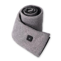 Heated Scarf with Power Bank light grey