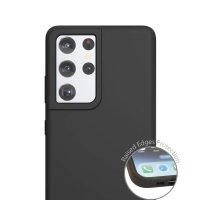 Liquid Silicone Case Cupertino for Samsung Galaxy S21 Ultra 5G black