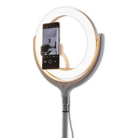 Selfie Ringlicht LoomiPod Stehlampe weiß