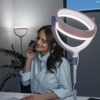 Selfie Ring Light LoomiPod Desk Lamp white