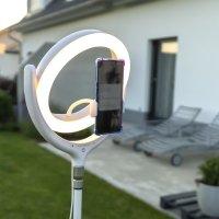 Selfie Ringlicht LoomiPod Tischlampe weiß