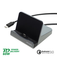 Ladestation VoltDock Tablet USB-C 60W gunmetal