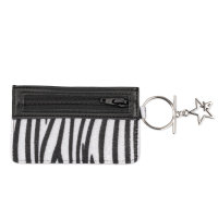 Case for Credit Cards Zip with Finger Ring zebra
