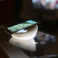 Wireless Charger VoltBeam N8 15W with Clock, LED Light, white