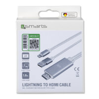 Lightning to HDMI Cable with Charging Function 1.8m white