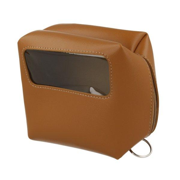 Case Leather Wide13x13x7cm cognac