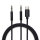 Active Audio Cable USB-C and 3.5mm to 3.5mm Jack SoundCord Digital 1.2m fabric black