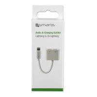Active Audio and Charging Splitter Lightning to 2x Lightning white