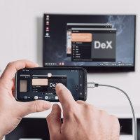 Aktiver Adapter USB-C auf HDMI 4K (DeX und Easy Projektion) mit USB-A Ladekabel 1,8m