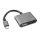 Aktiver Adapter Lightning auf HDMI 6cm schwarz / grau