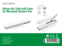 Active 4in1 Hub with Case for Microsoft Surface Pen, white