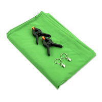 Chroma-Key Green Screen Set with Clamps and Holding Eyelets