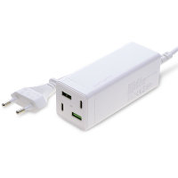 Charging station MultiGaN 65W with Quick Charge, PD, white