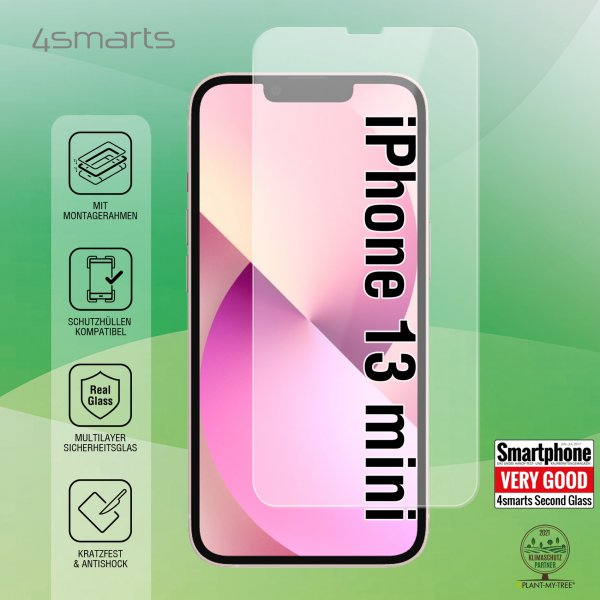 Second Glass X-Pro Clear mit Montagerahmen für Apple iPhone 13 mini