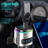 Bluetooth FM Transmitter Media&Assist 2 with Multimedia-In, Hands-free Function, Car Charger