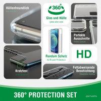 360° Starter Set mit X-Pro Full Cover Glas, Montagerahmen und MagSafe Hülle für Apple iPhone 13