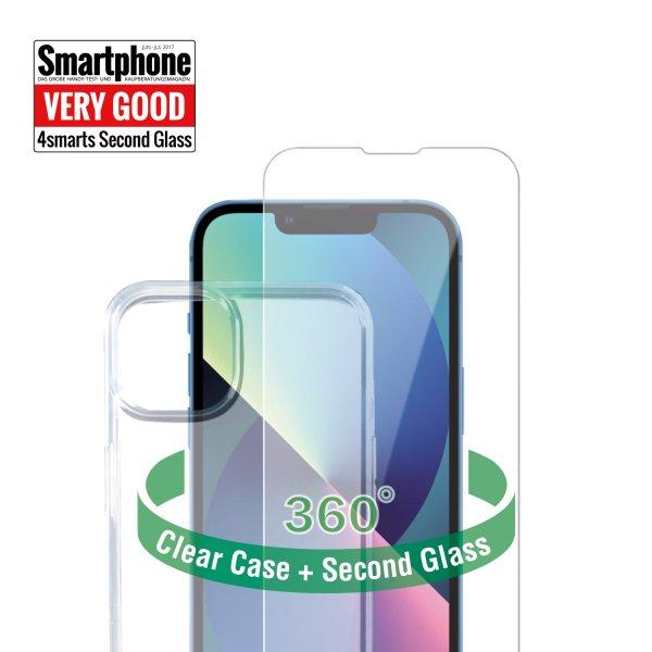360° Starter Set mit X-Pro Clear Glas, Montagerahmen und Clear Hülle für Apple iPhone 13
