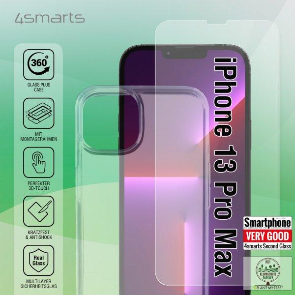 360° Starter Set mit X-Pro Clear Glas, Montagerahmen und Clear Hülle für Apple iPhone 13 Pro Max