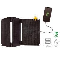 Foldable Solar Panel VoltSolar 20W with Dual USB-A Connector black