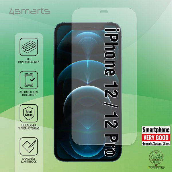 Second Glass X-Pro Clear with Mounting Frame for Apple iPhone 12 / 12 Pro