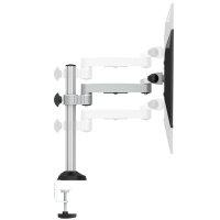 Tisch Halterung ErgoFix H2 für Monitore silber