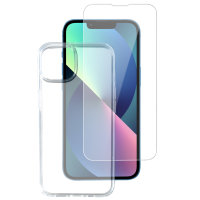 360° Starter Set with X-Pro Clear Glass, Mounting Frame and Clear Case for Apple iPhone 6.1 Pro Inch (2021)