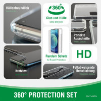 360° Starter Set with X-Pro Clear Glass and Clear Case for Samsung Galaxy A21s