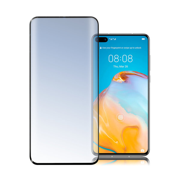 Second Glass Curved 3D for Huawei P40 black
