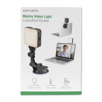 Mobile Video Light LoomiPod Pocket with Suction Cup Holder and Holding Clamp