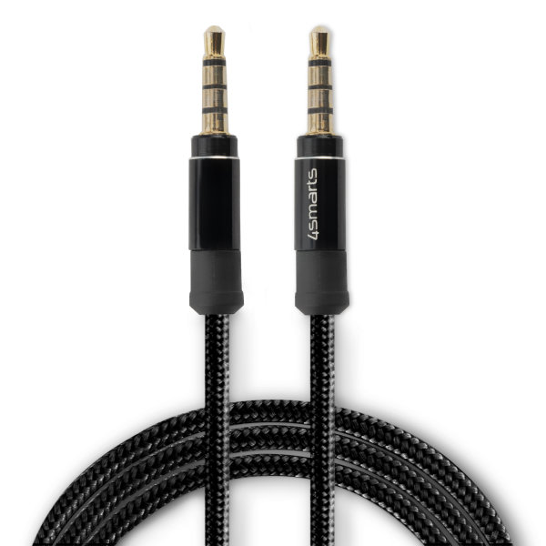 3.5mm Stereo Audio Cable SoundCord 1m fabric black