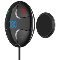 Bluetooth FM Transmitter DashRemote with Multimedia-In, Hands-Free Function, Car Charger