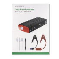 Jump Starter Powerbank Ignition 13800mAh mit Taschenlampe schwarz / rot