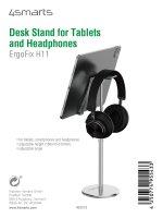 Tisch Ständer ErgoFix H11 für Tablets und Kopfhörer silber
