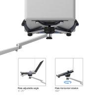 Boden Ständer ErgoFix H16 für Smartphones, Tablets und Laptops silber