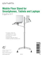 Mobile Floor Stand ErgoFix H17 for Smartphones, Tablets and Laptops silver