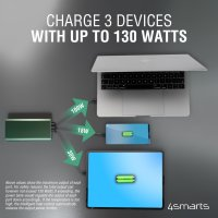 Power Bank Enterprise 2 20000mAh 130W with Quick Charge, PD, gunmetal *Select Edition*