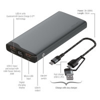 Power Bank VoltHub Pro 10,000mAh 22.5W with Quick Charge, PD gunmetal *Select Edition*
