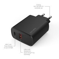 Wall Charger VoltPlug Adaptive 25W with PD, Quick Charge and AFC, black