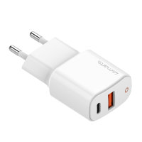 Wall Charger DoublePort PD 20W with Quick Charge, PD, white